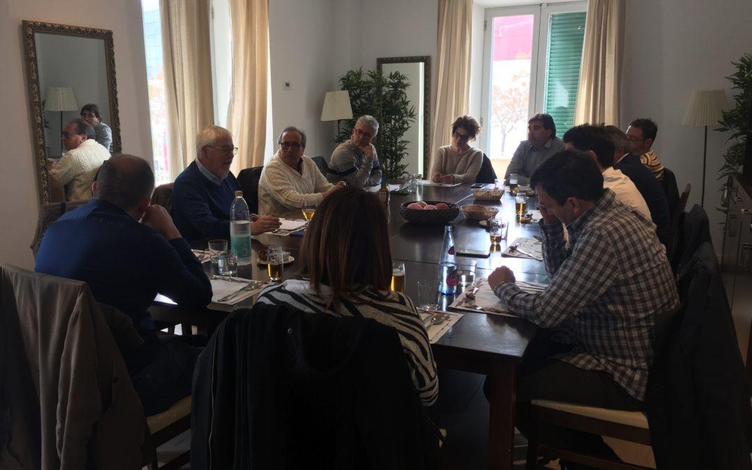 Primer comida de socios del año junto al experto Rafael Goberna